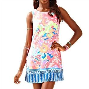 Lilly Pulitzer Donna Shift Romper Pink Floral 4